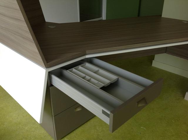 Tiroir meuble d'accueil